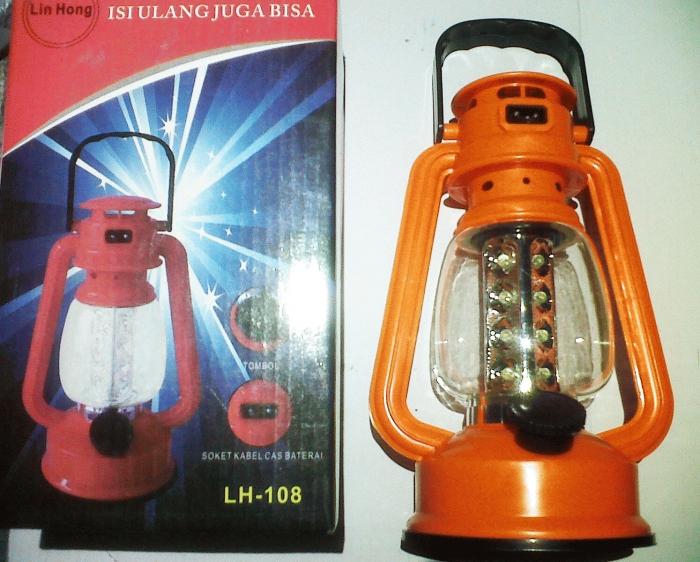 Lampu Emergency LED Petromaks Bisa Cas Listrik Isi Ulang Power - 647
