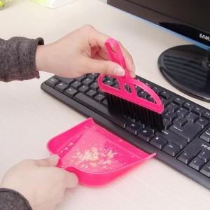 Sapu Mini Set Serok Cikrak Kecil Kebersihan Karpet Mobil Meja Laptop – 643