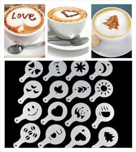 Coffee Mold Foam Latte Cetakan Busa Kopi 16 Set Motif Unik Lucu – 651