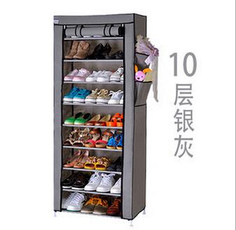 Dusk Cover Rak Sepatu Kain Penutup 10 Susun 9 Layer Lemari Packing Dus - 657