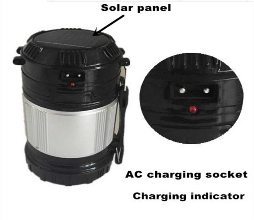 Senter Emergency Solar Cell 2in1 + Lampu Lentera Solar + Power Bank - 655
