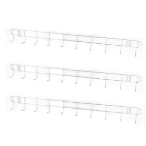 Gantungan Baju Stainless 10 Cantolan Hooks untuk Dinding Belakang Pintu Kamar Mandi – 672