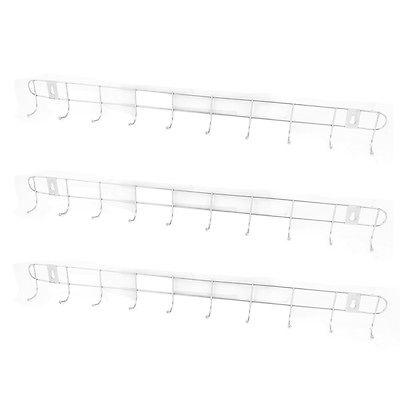 Gantungan Baju Stainless 10 Cantolan Hooks untuk Dinding Belakang Pintu Kamar Mandi - 672