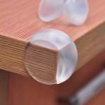 Silikon Oval Transparan Siku Pengaman Pelindung Sudut Meja – 669
