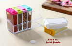 Tempat Bumbu Unik Set 6 In 1 Model Kotak Transparan – 691