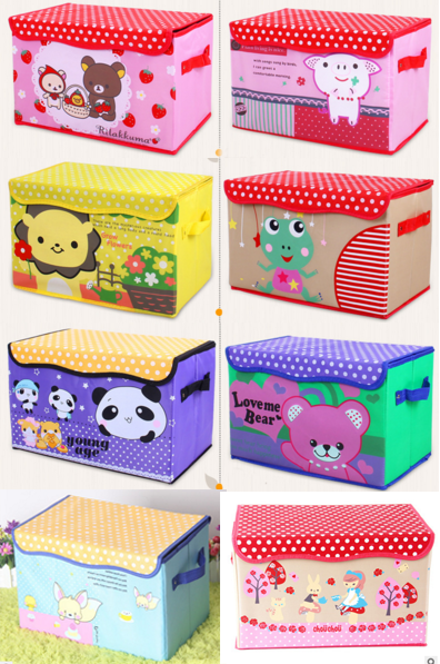 Fancy Storage Box Baju Murah Cartoon Animal Tempat Pakaian Karakter Lucu Unik - 705