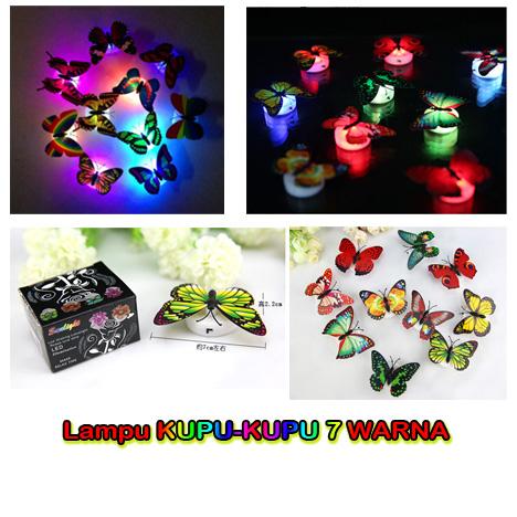 Lampu Kupu-Kupu LED 7 Warna Unik Souvenir Murah - 706