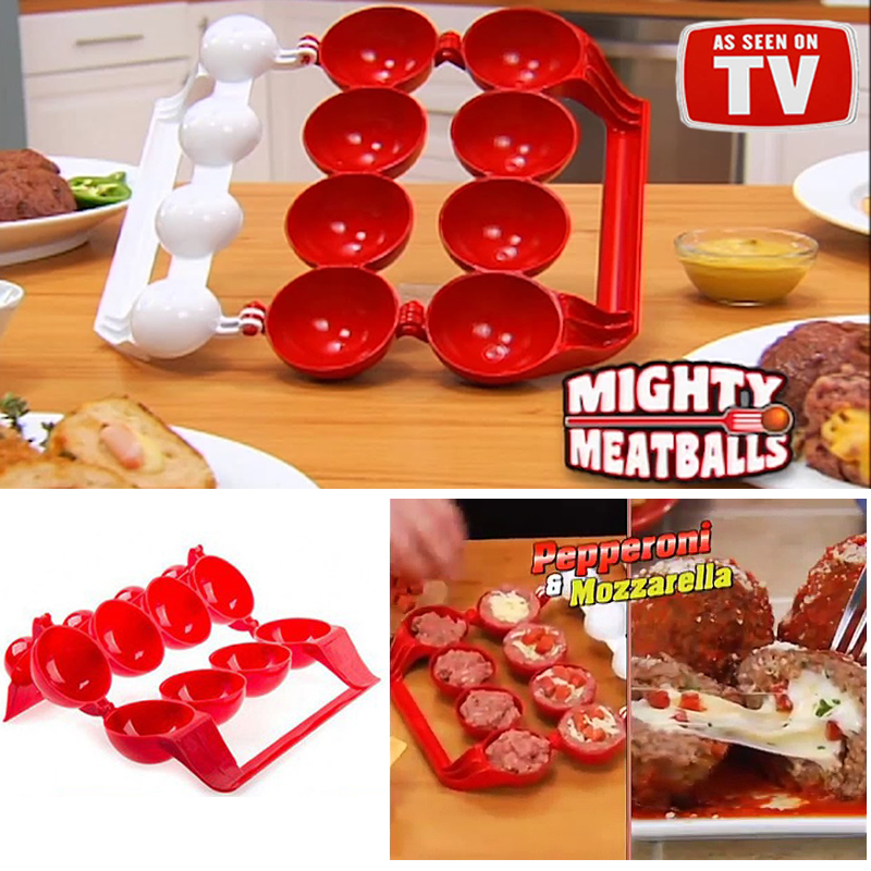 Mighty Meatball Cetakan Bakso Bakwan Roti Isi Daging Kitchen Mold 2in1 - 701