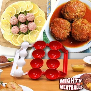 Mighty Meatball Cetakan Bakso Bakwan Roti Isi Daging Kitchen Mold 2in1 – 701