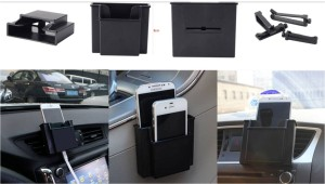 Car Outlet Wind storage BOX + Perekat Mobile Phone Holder Aksesoris Interior Mobil – 703