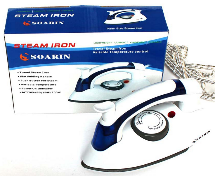 Steam Iron Travelling Setrika Uap Lipat 2 In 1 Model Terbaru - 704