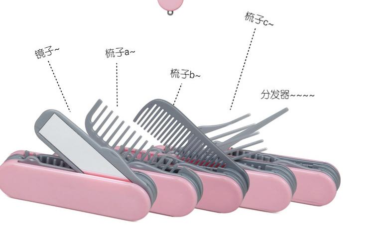 Army Comb Mirror Sisir Rambut Saku Multifungsi 5 in 1 Kaca Aksesoris Hair Style - 699
