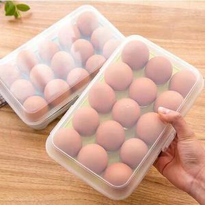 Kotak Telur Isi 15 Egg Box Penyimpan Di Tray Kulkas Organizer - 707