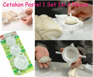 Dumpling Mold (3 Pieces/Set) Cetakan Pastel Pangsit Dapur Kitchen - 717
