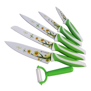 Kitchen Knife Rose Set 6 PCS Pisau Mawar Keramik Set 6 In 1 - 718