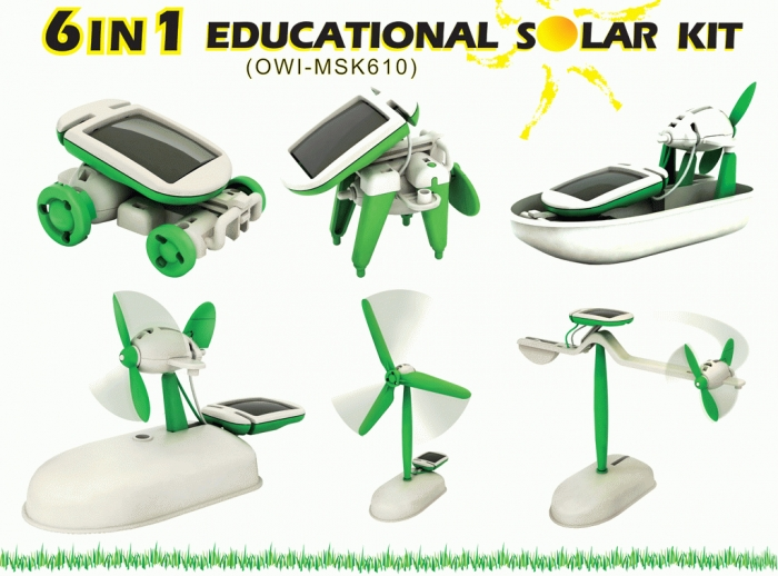 Solar Kit 6 In 1 Robot Educational Toys Mainan Edukasi Anak Kids Hobi - 710