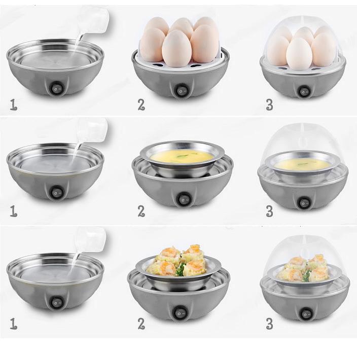 Egg Boiler Cooker Pengukus Telur Elektrik Isi 7 buah - 721