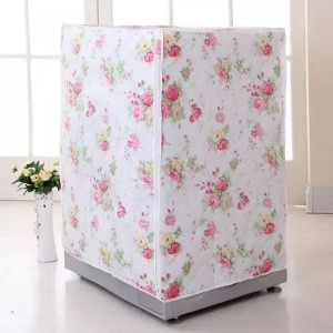 Sarung Cover Mesin Cuci Buka Atas/ Depan Laundry Motif Bunga Pernik – 725