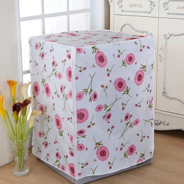 Sarung Cover Mesin Cuci Buka Atas/ Depan Laundry Motif Bunga Pernik - 725