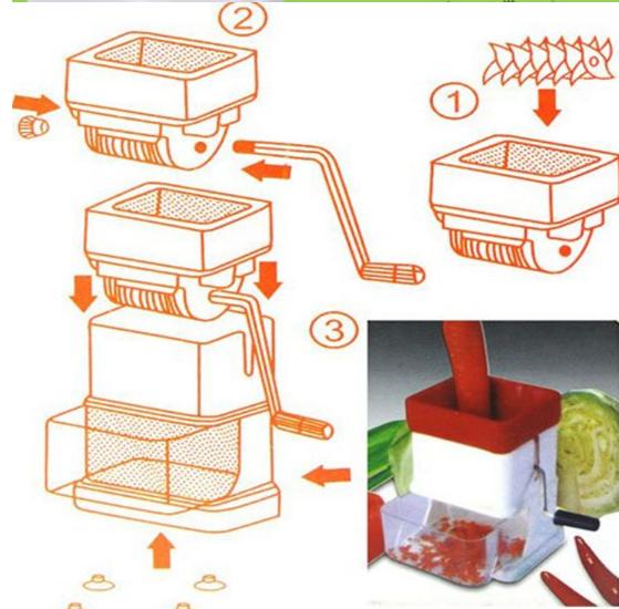 Small Meat Grinder Alat Giling Daging Bawang Sayur Kacang Serbaguna - 724