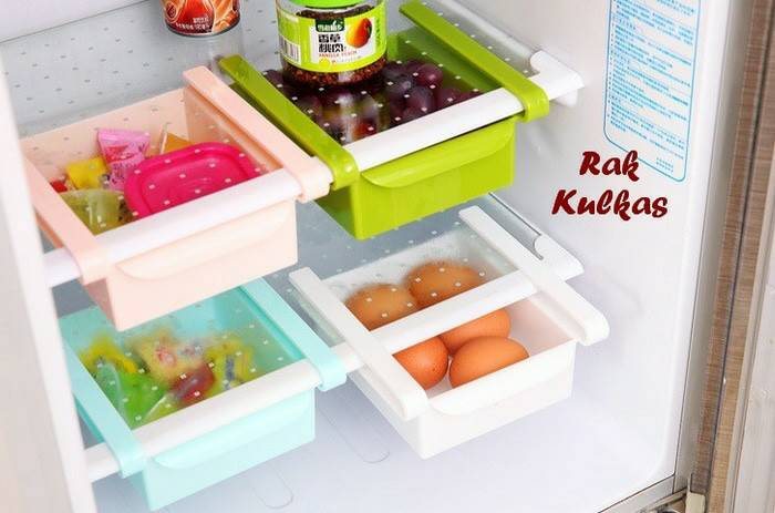 Multifunction Colorful Storage Box Laci Meja Tempat Rak Kulkas - 728