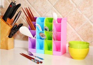 Mini Rack Multifungsi Rak Mini 4 Sekat Tempat Sendok Alat Tulis Desk Table Organizer – 726