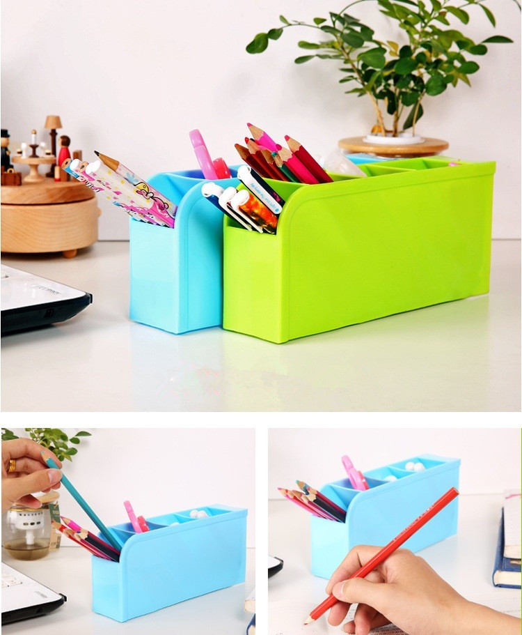 Mini Rack Multifungsi Rak Mini 4 Sekat Tempat Sendok Alat Tulis Desk Table Organizer - 726