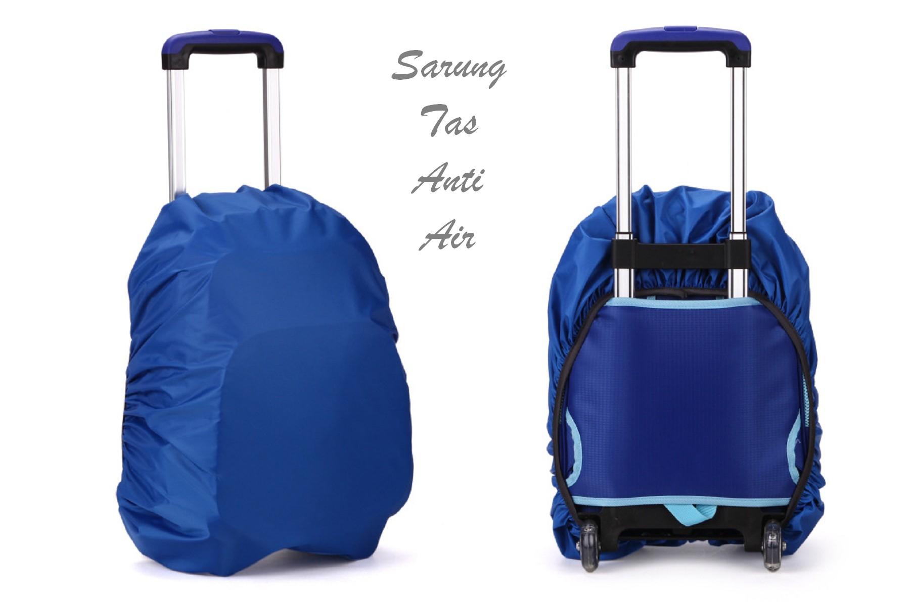 Sarung Tas Anti Air Pakai Karet Muat Ukuran Kecil Sampai Besar Cover Bag - 732