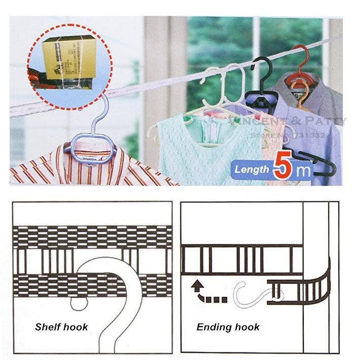 Tali Jemuran Praktis 5 Meter Clothes Line Laundry - 729