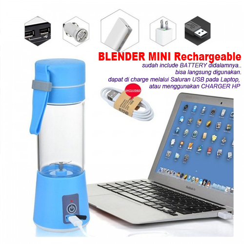Blender USB Mini Murah Include Battery Rechargeable - 735