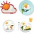 Cetakan Omelette Telur Sun Cloud Matahari Awan Silicone Mold – 737