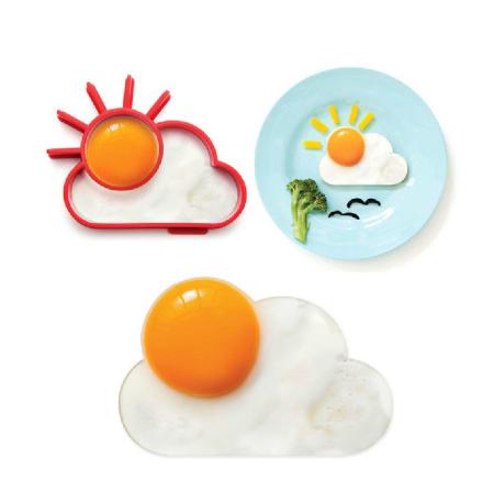 Cetakan Omelette Telur Sun Cloud Matahari Awan Silicone Mold - 737