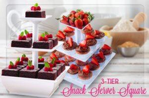 Snack Server Rak Aneka Kue Cup Cake Potongan Buah Coklat ( Etalase 3 Tingkat ) – 743