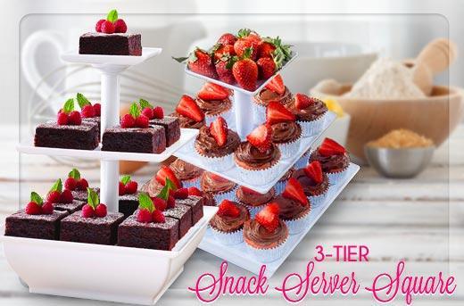 Snack Server Rak Aneka Kue Cup Cake Potongan Buah Coklat ( Etalase 3 Tingkat ) - 743