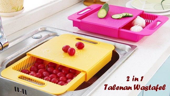 Talenan Wastafel 2in1 Tirisan Air Cuci Buah Sayur Alat Dapur Kitchen - 739
