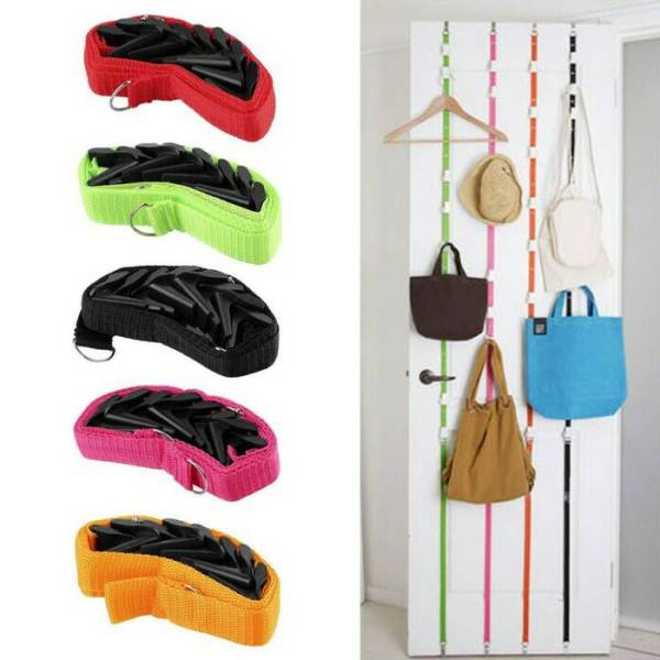 UP DN Hook Hanger Gantungan Pintu Baju Tas Topi Rack Organizer Fashion - 745