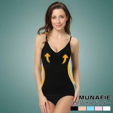 Japan MUNAFIE Atasan Slimming Vest Cloth Cami Sharper Korset Baju Original - 755