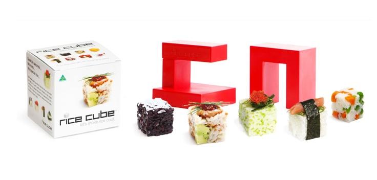 Rice Cube Mold Sushi Maker Cetakan Nasi Kotak Bento Kitchen Home - 753