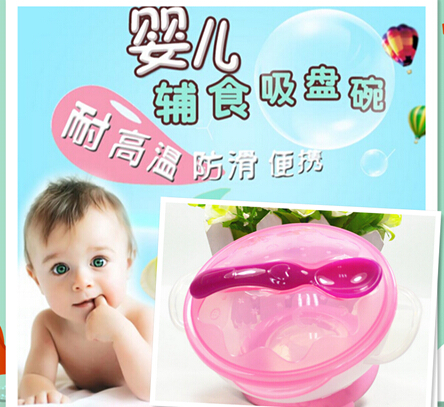 Suction Bowl Mangkok Bayi Anti Tumpah Baby Kids Balita Bonus Sendok - 754