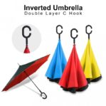 PAYUNG TERBALIK UNIK REVERSE UMBRELLA UPSIDE DOWN MOBIL HUJAN ANTI AIR GAGANG C – 762