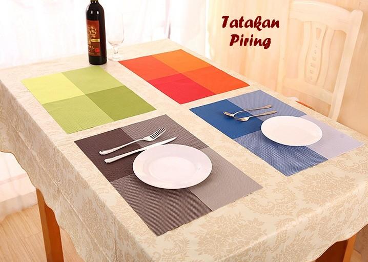 Tatakan Piring Bahan PVC Ringan Modern Higienis Tahan Panas Table Mat - 760
