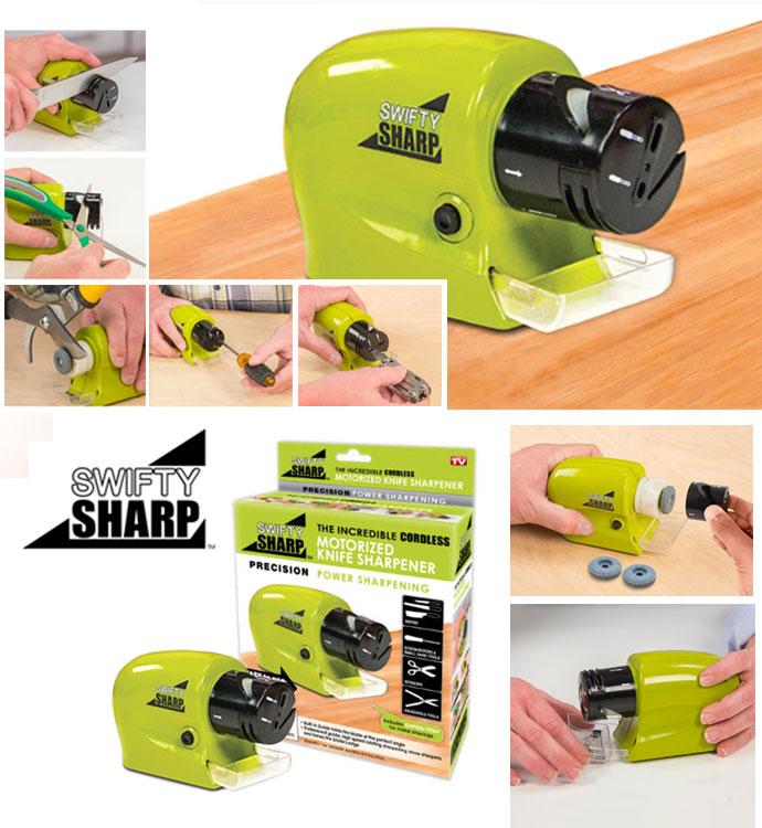 Swifty Sharp Pengasah Pisau Gunting Otomatis Elektrik Knife Sharpener - 769