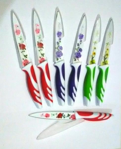 Pisau Dapur Mawar Tajam Anti Karat Unik Motif Bunga Kitchen Knife - 772