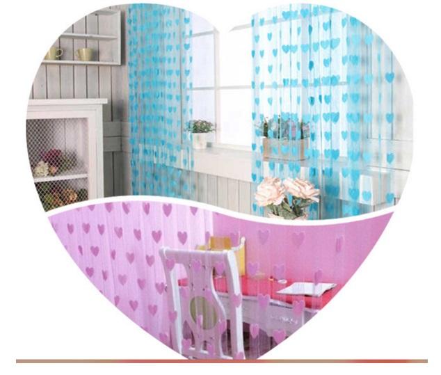 Tirai Benang Cantik Motif Love Korean Style Gorden Dekorasi Interior - 775