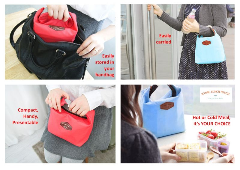 ICONIC INSULATED LUNCH BAG TAS BEKAL MAKAN TAHAN PANAS DINGIN - 778