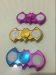 Fidget Spinner LED Batman Metalik Chrome Nyala On Off Mode 3in1 Mainan – 785