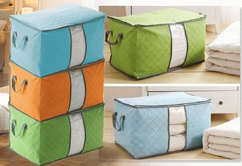 Storage Bag Tidur Box Tempat Pakaian Celana Selimut Rumah Tangga Portable - 787