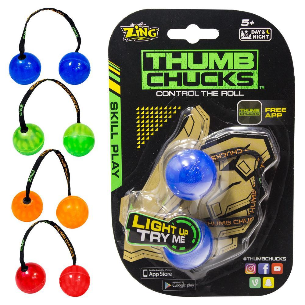 Finger Yoyo Thumb Chucks Ball Lamp New Fidget Spinner Glow In The Dark Mainan Edukasi Anak Kids Toys - 788