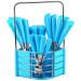 Sendok Garpu Pisau Set Stainless Steel POLKADOT 24Pcs Cutlery Dapur Kitchen NEW – 723